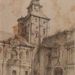 Cour de l'hôtel de Ville,  © Musée d'Abbeville