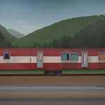 "Robert Waddington, Allegheny Trailer Home, oil, 48"" x 66"""