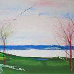 "Lesa Chittenden Lim, ""Spring"", 21 x 25"", watercolor/pastel"