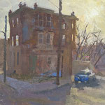 """Charles Newman, """"Somewhere in North Philly"""", 14"""" x 18"""", oil on linen panel"""