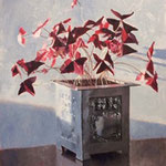 "Patrick Crofton, ""Oxalis in Pewter"", 14"" x 11"", oil on panel"