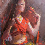 """Charles Newman, """"The Dancer"""", 10"""" x 8"""", oil on panel"""
