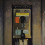 """Pay Phone"", 32"" x 16"", oil on canvas"