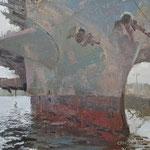"Charles Newman, ""Big John"", 11"" x 14"", oil on linen panel"