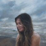 "Lauren Tilden, ""Swept Away, Psalm 42"", 20"" x 24"", oil on panel"