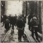 "Robert Sampson, ""City Hall Passage"", 5"" x 4 3/4"", etching"