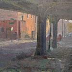 """Charles Newman, """"Inn Through the Trestle"""", 11"""" x 14"""", oil on linen panel"""