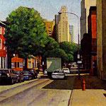 "Rick Buttari, ""North on 16th"", 12"" x 16"", oil on mounted canvas"