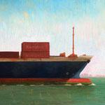 "Brad Davis, ""Cargo"", 8"" x 10"", oil on panel"