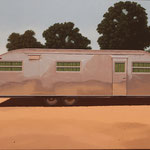 "Robert Waddington, 1951 Spartanette Trailer Home, oil, 24"" x 32"""