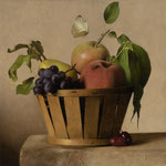 "Carlo Russo, ""Fruit From the Trees"", 10.5"" x 10.5"", oil/panel"