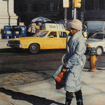 "Rick Buttari, ""18th & Walnut"", 12"" x 9"", colored pencil"