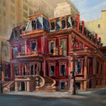 "Susan O'Reilly, ""The Union League,"" 23"" x 29"", oil on panel"