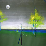 "Lesa Chittenden Lim, ""Full Moon"", 33 x 21"",  watercolor/pastel"