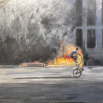 "Gregory Prestegord, ""Protest"", 60"" x 72"", oil on canvas"