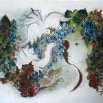 Vinum  , Künstlerpastell-Kreide  (60 x 38 )