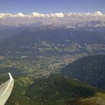 Brixen mit den Dolomiten im Hintergrund