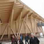 beeindruckende Konstruktion des Baus der Architekten Herzog & de Meuron