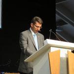 Präsident Konrad Schmid begrüsst die Brunnenmeister