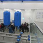 Zwei Druckwindkessel verhindern Druckschläge beim Ausfall der Pumpen