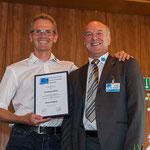 Christoph Müller (li.) erhält die Ehrenmitliedschaft für 13 Jahre Vorstandstätigkeit