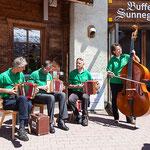 gute zermatter Volksmusik am Samstag auf der Sunnegga (2300 m.ü.M.)