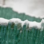 Schnee auf Glas