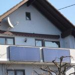 Göttelfingen: Solarkollektoren Balkon