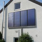 Herrenberg: Solarkollektoren Fassadenanordnung