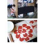 ネコ型クッキーを美術館前で販売する屋台 食べられる作品