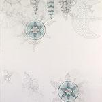 ohne titel | 110 x 98 cm | Graphit , Buntstift auf Papier