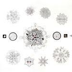 schwarze ringe  | 150 x 200 cm | Graphit, Buntstift u. Collage auf Papier