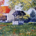 Promenade à Lieuvillers (Oise) - Huile sur toile - Vendu