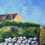 Penmarch (Finistère -Bretagne) - Huile sur toile - Vendu