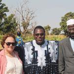 Dr. Harrer, Dr. Ouedraogo und Hr. Ouedraogo sen.
