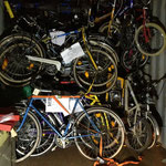107 Fahrräder auf 16 Kubikmeter