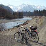 An der Iller --Fischen nach Oberstdorf 6 Km --- Fischen nach Sonthofen 6 Km