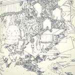 細密ドローイング31 2016年 33.2×24.2cm 水彩紙にボールペン (C)Rina Mizuno