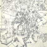 細密ドローイング30 2016年 33.2×24.2cm 水彩紙にボールペン (C)Rina Mizuno