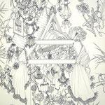 細密ドローイング33 2016年 33.2×24.2cm 水彩紙にボールペン (C)Rina Mizuno