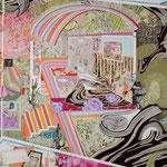 FLAVOR 2016年 227.3×181.8cm キャンバスに油彩、ボールペン  (C)Rina Mizuno