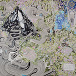 SCENT 2016年 227.3×181.8cm キャンバスに油彩、ボールペン  (C)Rina Mizuno