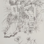 細密ドローイング・KURASHIKI 2017年33.2×24.2㎝ 水彩紙にボールペン