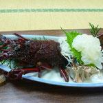 伊勢海老刺身。 プリップリで甘くて美味しい!