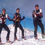 Fritz, Christian und Lysee vom SV Schlickeralm Stubai
