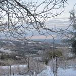 Winterlandschaft vor der Casa Pietrone