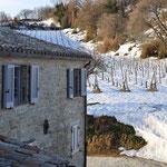 Winterlandschaft hinter der Casa Pietrone