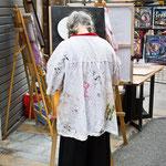 Berny - artiste peintre à l'oeuvre