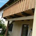 Balkon erneuerung (Auch ein Tragender Balken wurde hier ausgewechselt)