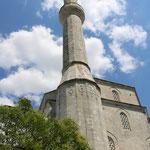 De minaret van deze moskee